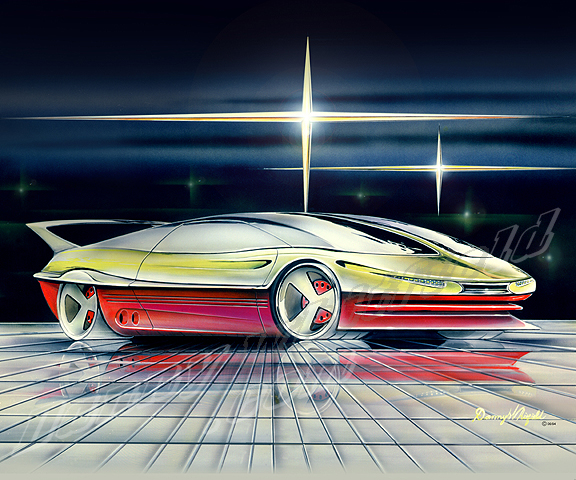 Concept Car Car Art Print Poster By Danny Whitfield