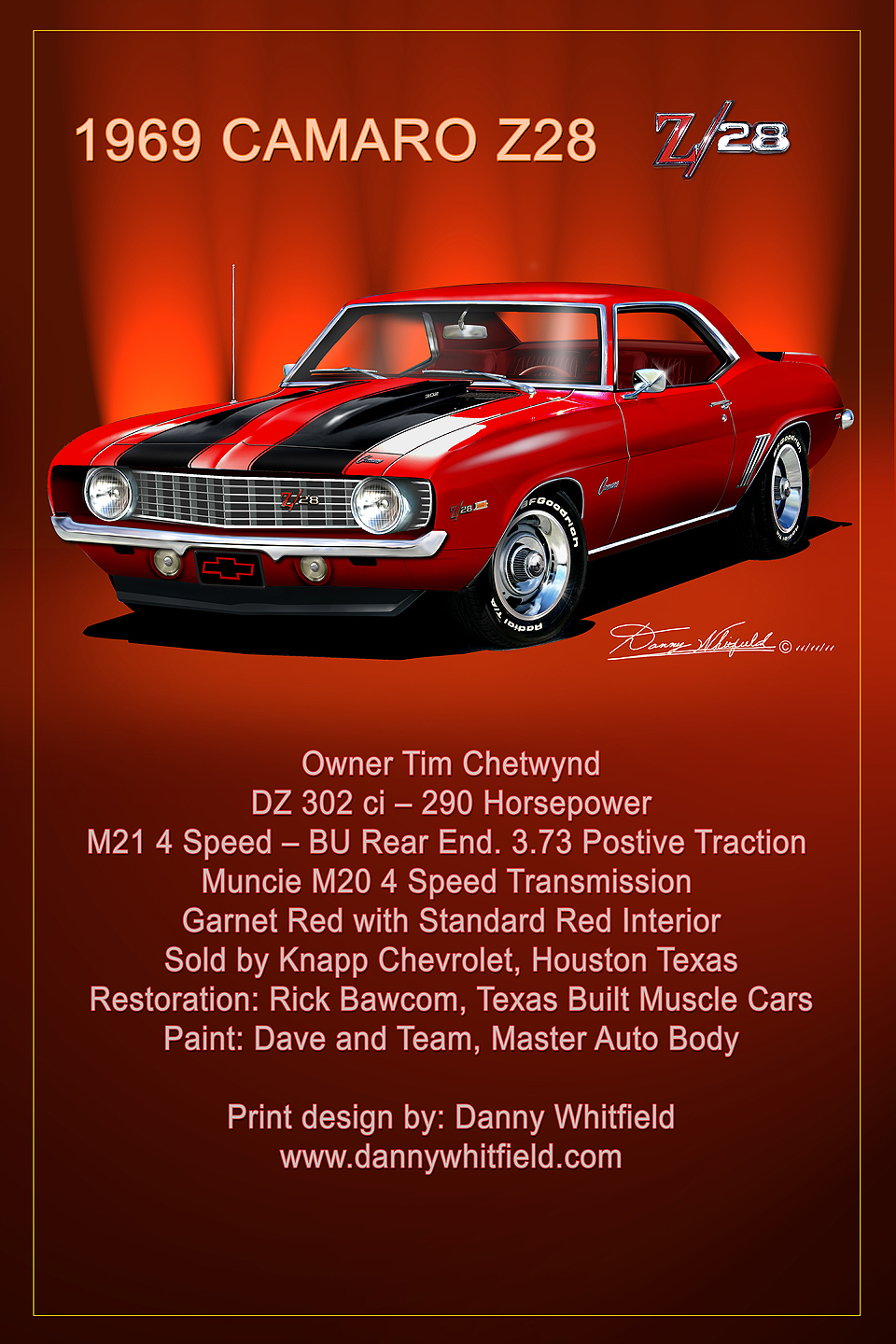 Classic Car Hot Rod Showboard Display Prints DannyWhitifeldcom - Car show signs