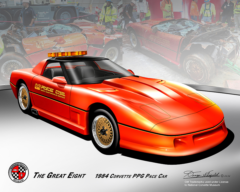 national corvette museum great eight commemorative prints by danny whitfield. Black Bedroom Furniture Sets. Home Design Ideas
