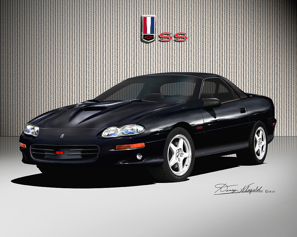 1998 2002 chevrolet camaro ss car art print poster by. Black Bedroom Furniture Sets. Home Design Ideas