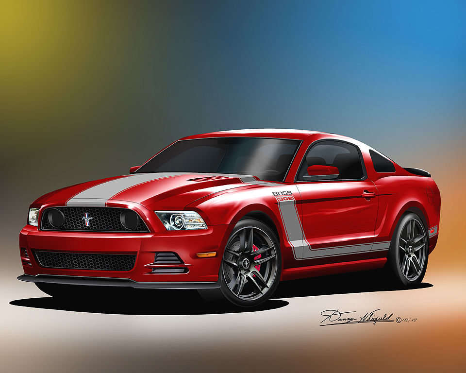 2013- 2014 Ford Mustang Fine art prints & posters by Danny ...