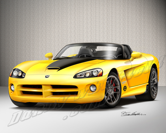 Dodge Viper Yellow Have a question for the artist