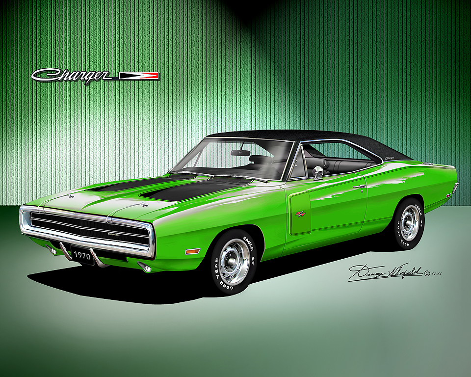 Go Mango Charger >> 1970-1974 Dodge Charger fine art prints by Danny Whitfield