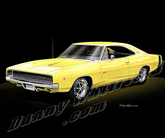 1968 Dodge Charger RT Yellow