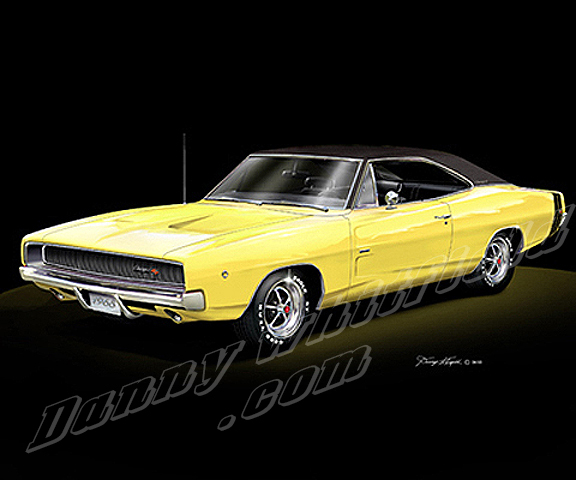 1968 Dodge Charger Yellow