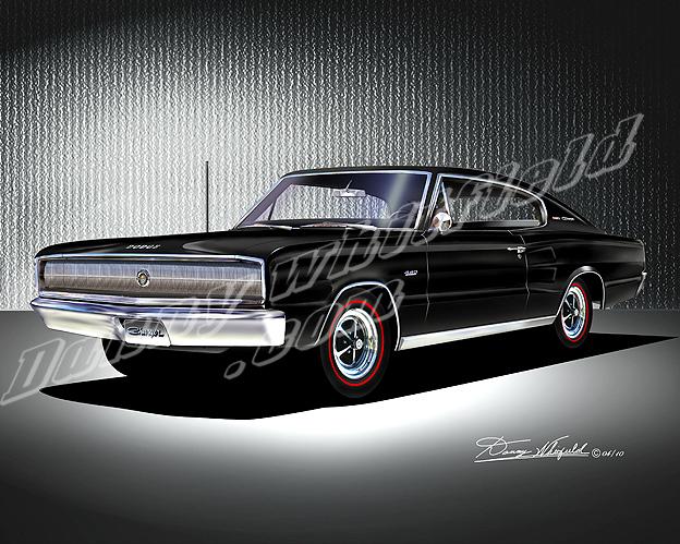 1967 Dodge Charger Black