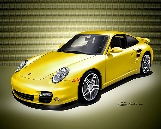 Yellow Porsche 911 Turbo Image