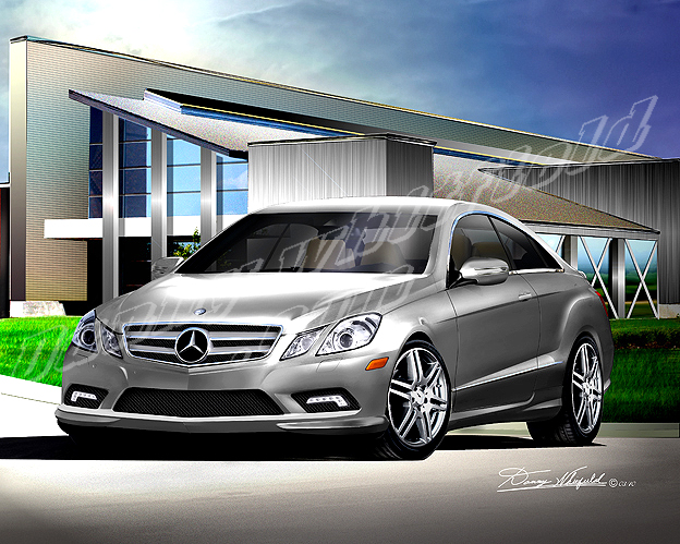 Mercedes benze high quality art prints by danny whitfield for 2006 mercedes benz e550