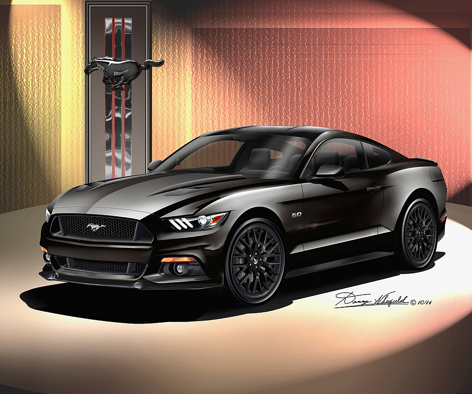 ford mustang 2015 2016 fine art prints posters by danny whitfield - Ford Mustang Gt Black