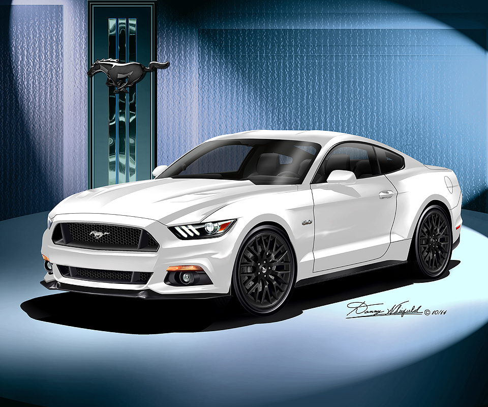 ford mustang 2015 2016 fine art prints posters by danny whitfield - Ford Mustang Gt 2015 White