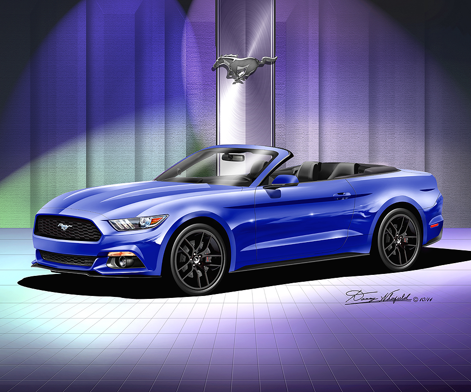 ford mustang 2015 2016 fine art prints posters by danny whitfield - Ford Mustang 2015 Blue