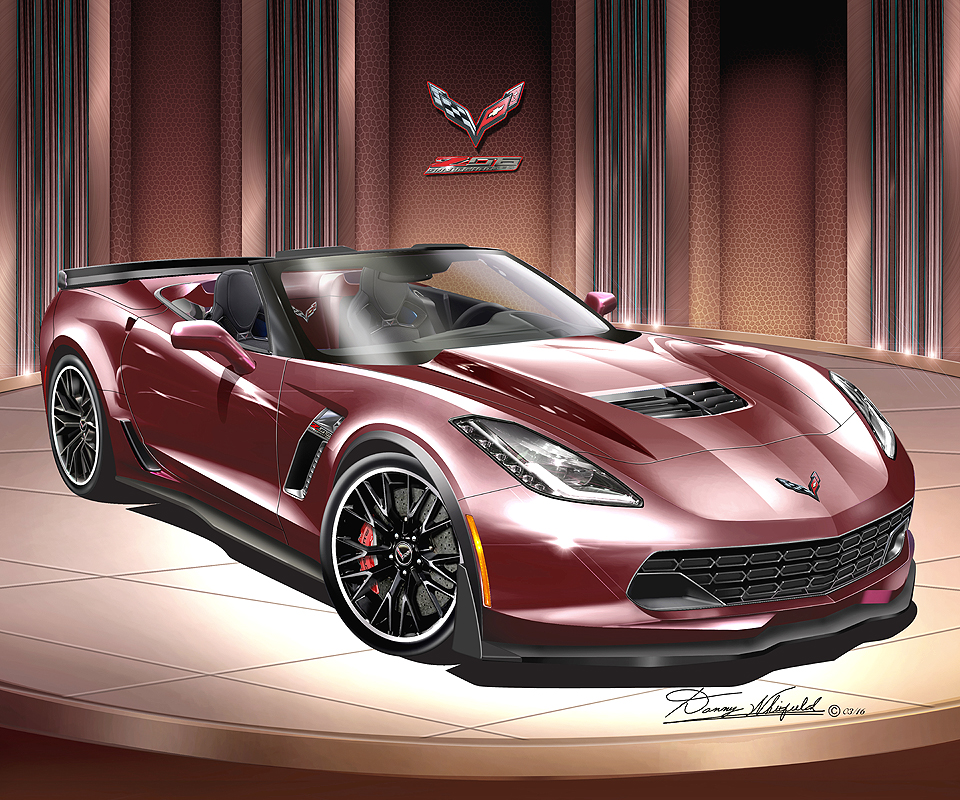 Chevrolet Corvette Convertible Fine Art Prints 2014   2015 By Danny  Whitfield
