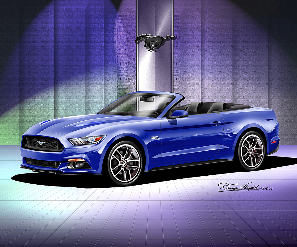 ford mustang 2015 2016 fine art prints posters by danny whitfield - 2015 Ford Mustang V6 Blue