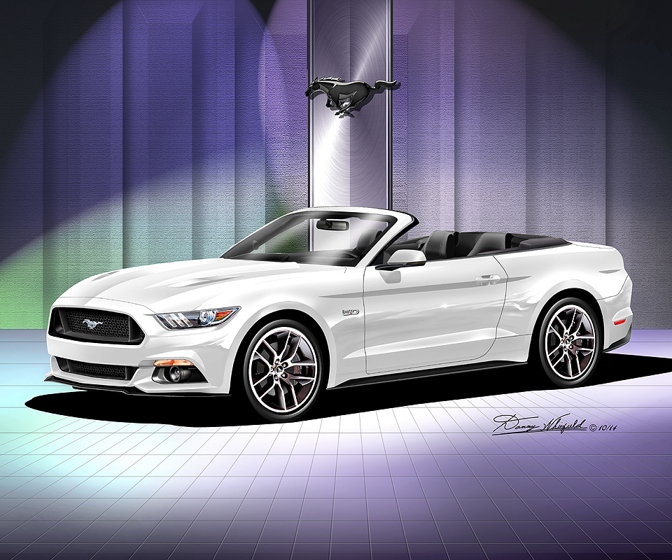size16 x 20 8000 - Ford Mustang Gt 2015 White