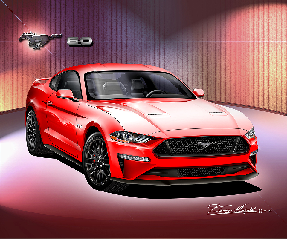 ford mustang 2018 2019 fine art prints posters by danny whitfield. Black Bedroom Furniture Sets. Home Design Ideas
