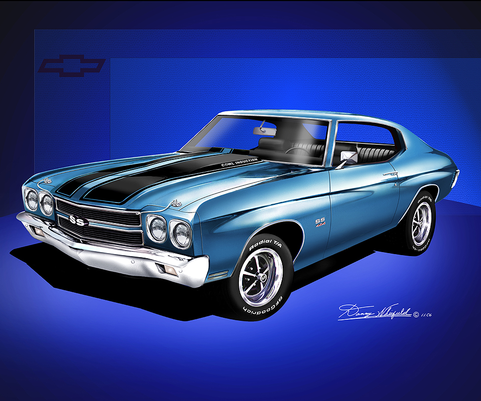 1970 chevelle ss fine art prints posters by danny whitfield. Black Bedroom Furniture Sets. Home Design Ideas