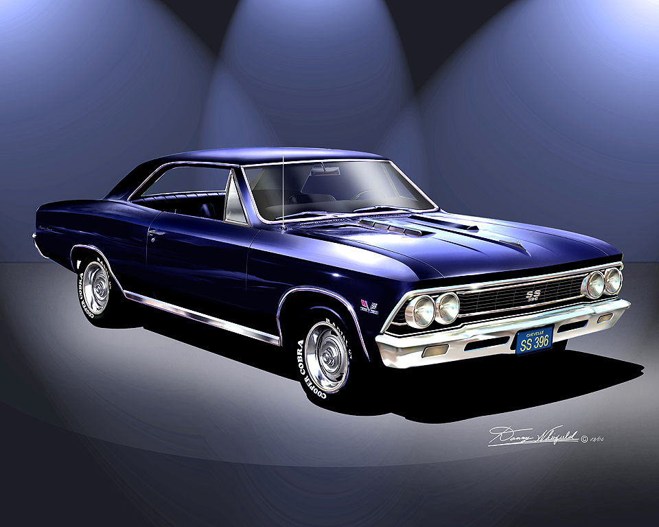 1966 1967 chevelle ss fine art prints posters by danny whitfield. Black Bedroom Furniture Sets. Home Design Ideas