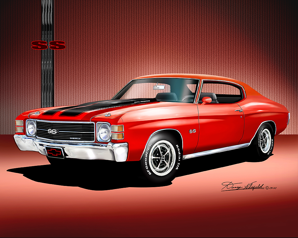1971 1972 chevelle ss fine art prints posters by danny whitfield. Black Bedroom Furniture Sets. Home Design Ideas