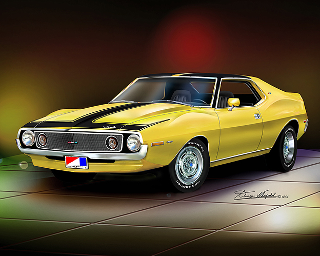 1969 1974 Amc Amx Javelin Art Print Poster By Danny