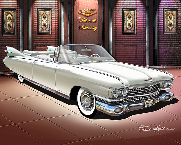 Cadillac art print poster by Danny Whitfield