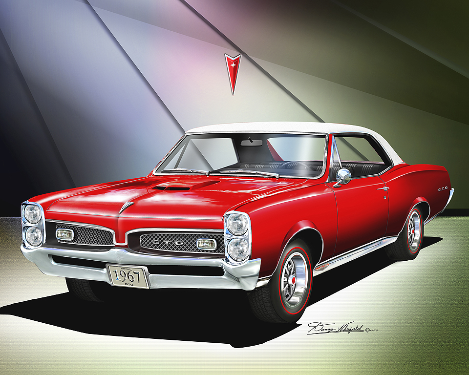 1966 1967 ponitac gto fine art prints and posters by danny. Black Bedroom Furniture Sets. Home Design Ideas
