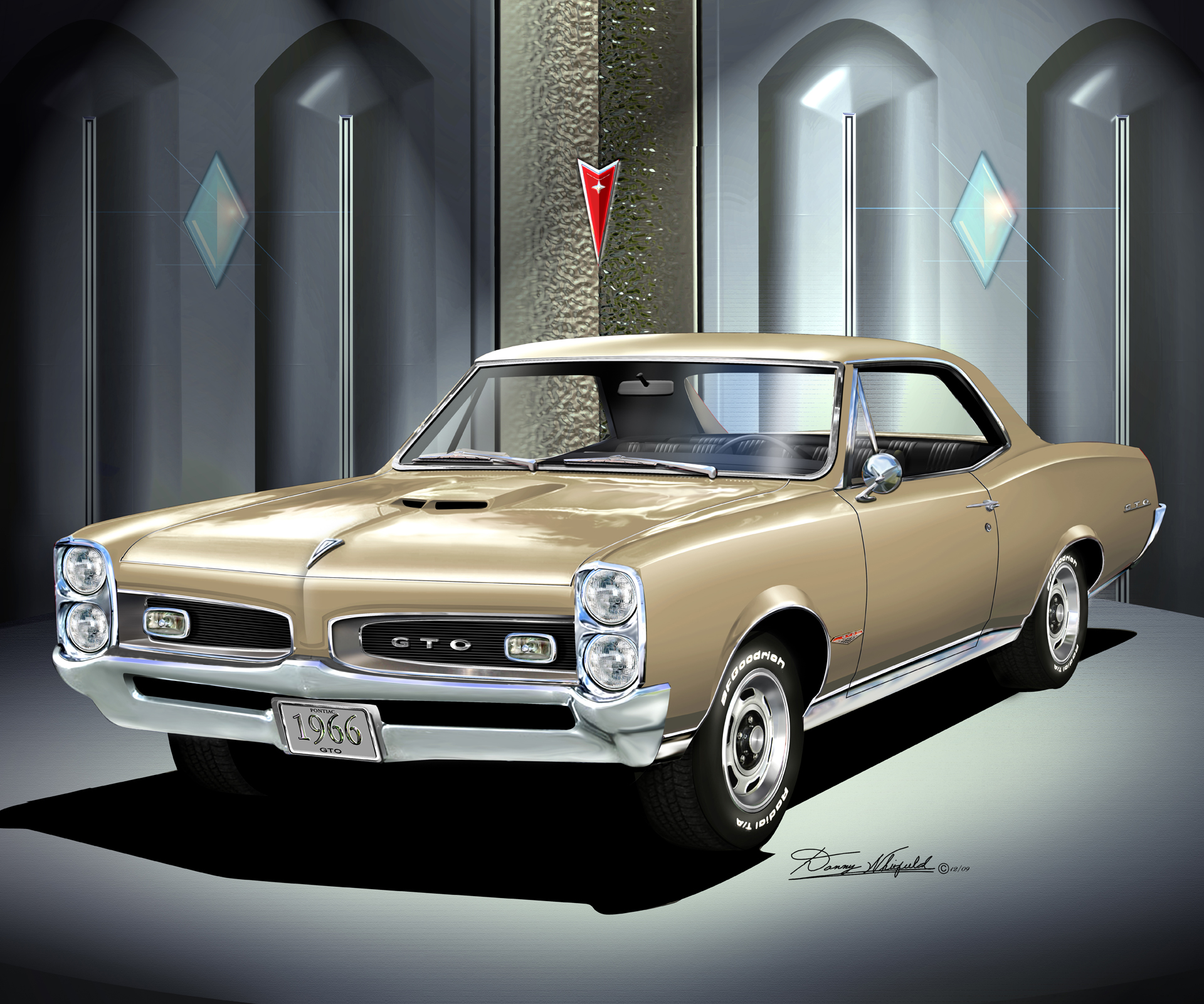 19661967 Ponitac GTO Fine art prints and posters by Danny Whitfield
