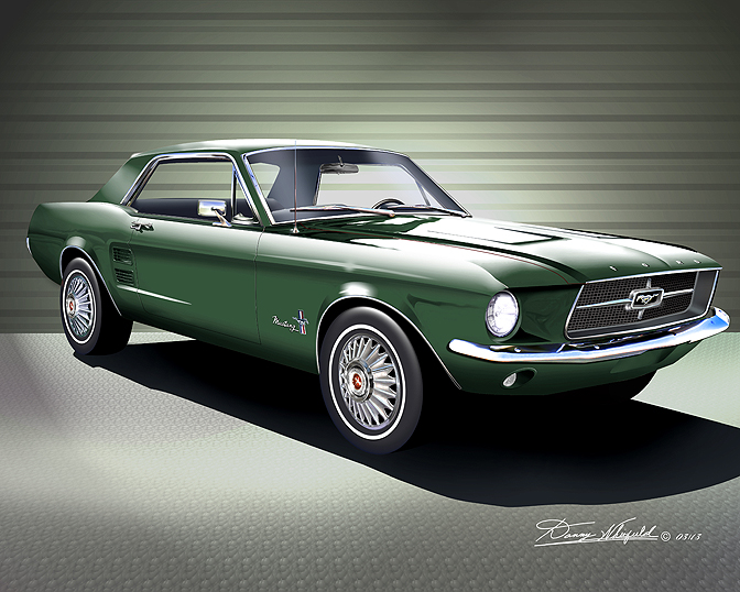 1967 1968 ford mustang fine art prints posters by danny whitfield