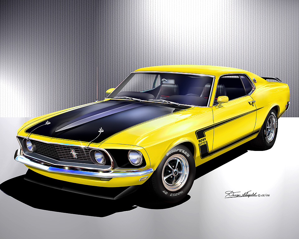 1969 1970 ford mustang fine art prints posters by. Black Bedroom Furniture Sets. Home Design Ideas
