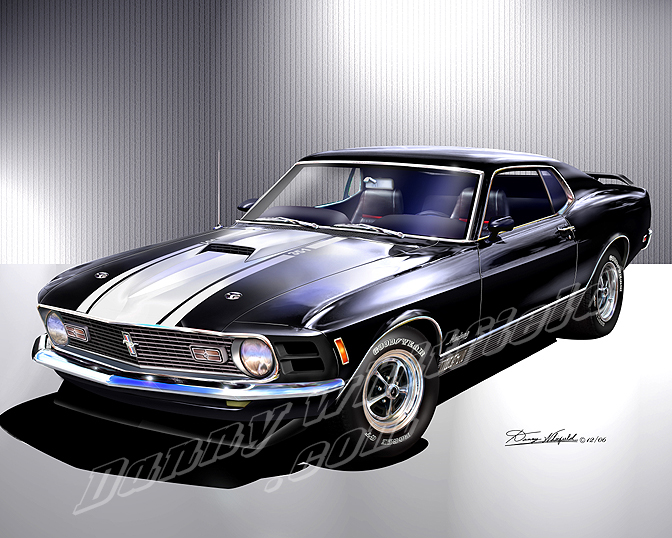 1969- 1970 Ford Mustang Classic Cars Prints by Danny Whitfield,