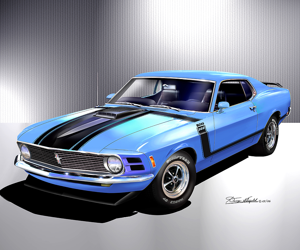 1969 1970 ford mustang fine art prints posters by danny whitfield. Black Bedroom Furniture Sets. Home Design Ideas