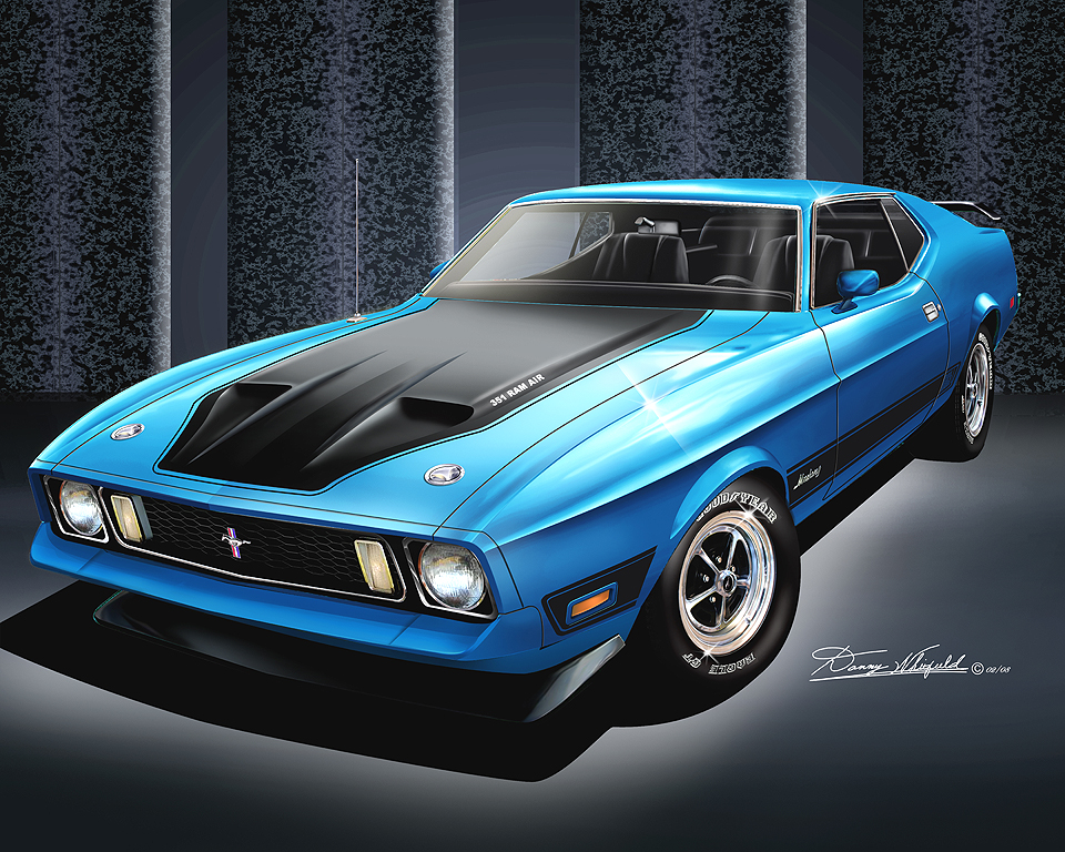D Striped Car Mustanggtstripe in addition D New Steering Wheel Emblem Scaled moreover Cb F D B also Item K Mustang Mach Grabber Blue together with D Sport Max Wheels Inch P. on ford mustang mach 1