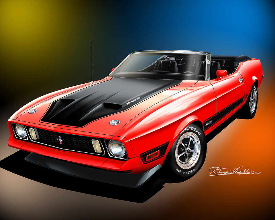 1971 1973 Ford Mustang Fine Art Prints Amp Posters By Danny