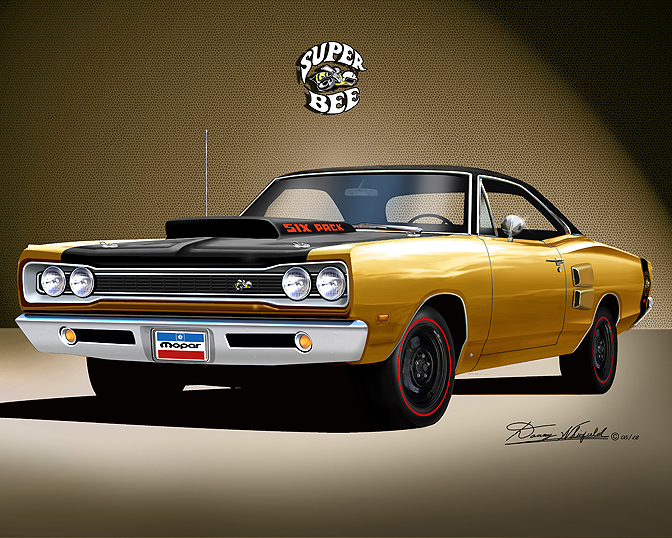 1969 1970 Dodge Superbee Fine Art Prints By Danny Whitfield