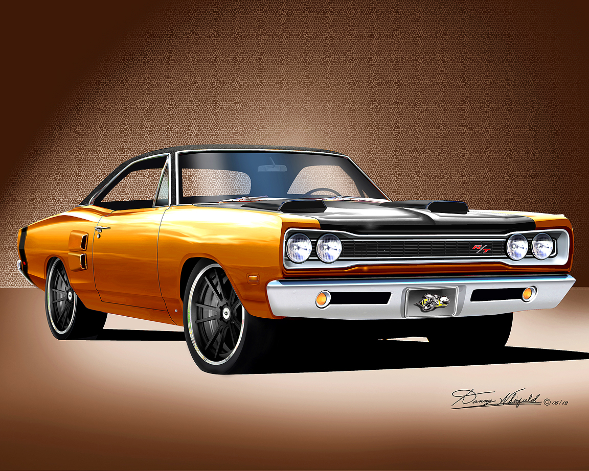 1969 1970 dodge superbee fine art prints by danny whitfield. Black Bedroom Furniture Sets. Home Design Ideas