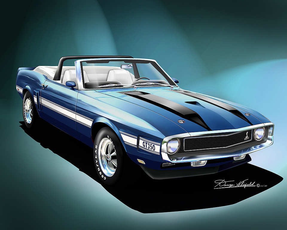 1969 Shelby Mustang >> 1969 - 1970 Ford Mustang Fine Art Prints & Posters by ...