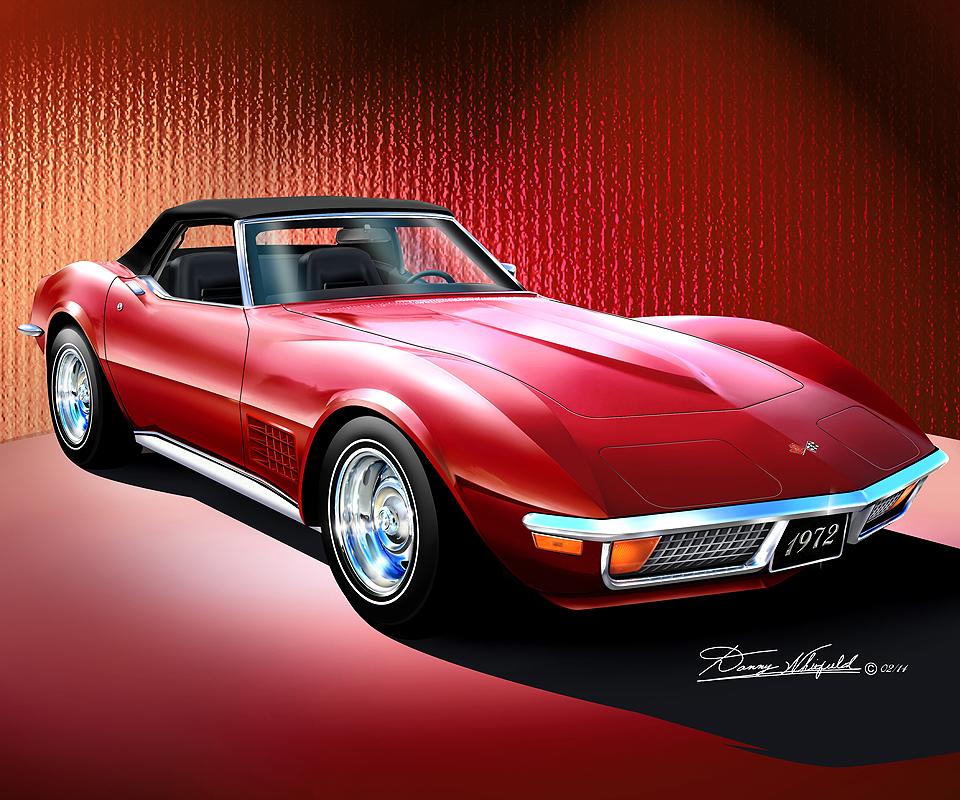 Item Cs Corvette Convertible Mille Miglia Red
