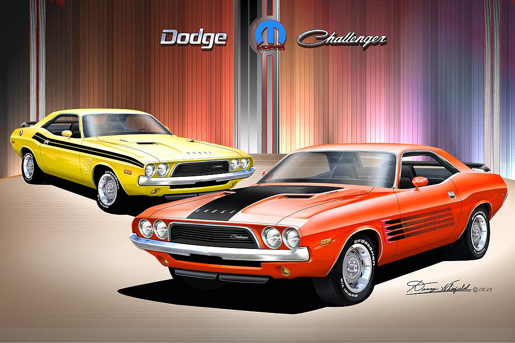 1972 Dodge Challenger >> 1972-1970 Dodge Challenger Fine art prints by Danny Whitfiled