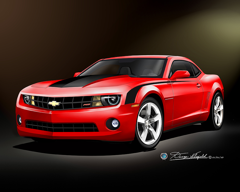 2010 2011 camaro ss rs car art print poster print by danny whitfield. Black Bedroom Furniture Sets. Home Design Ideas