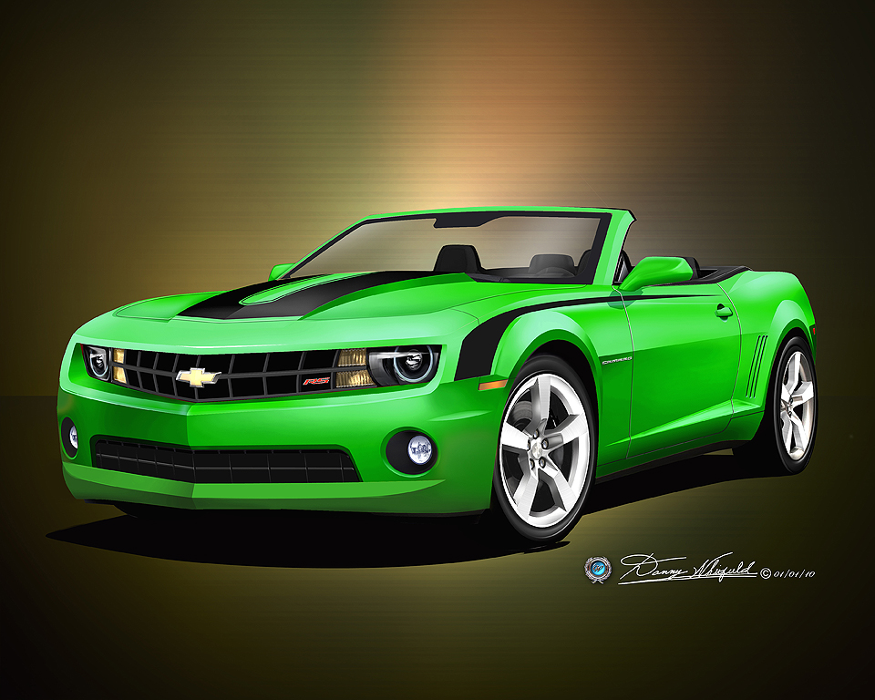1969 Chevrolet Camaro Convertible For Sale 2010- 2011 Camaro SS & RS car art print poster print by ...