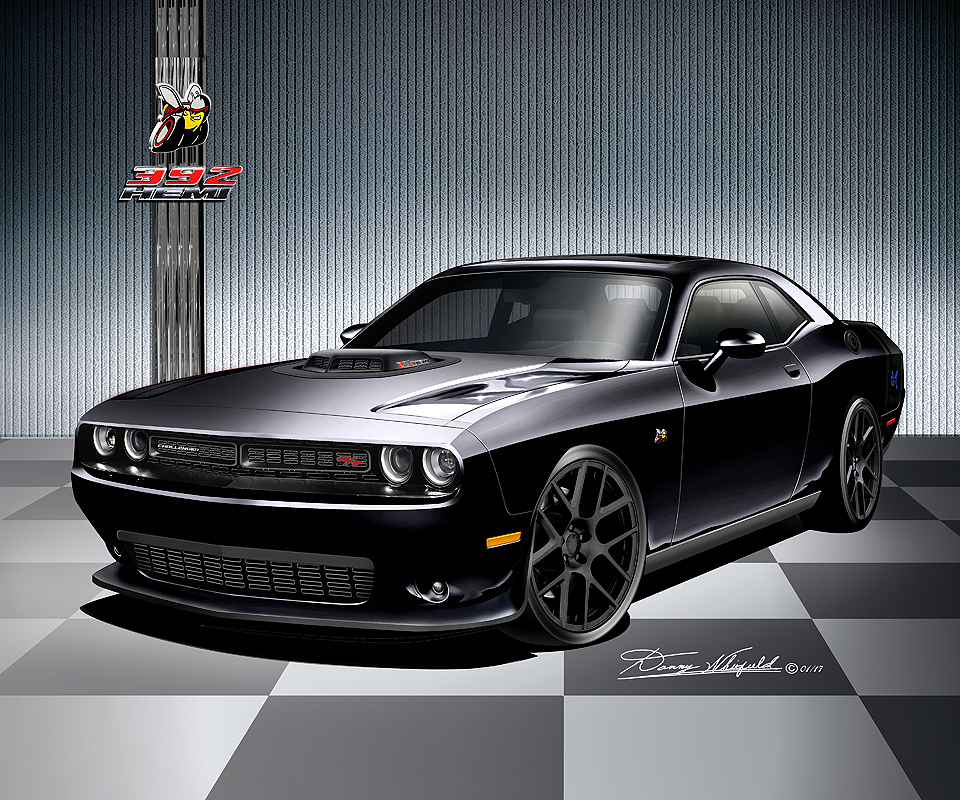 2008 2017 Dodge Challenger Hell Cat Srt8 392 Pack Art Prints By Danny Whitfield