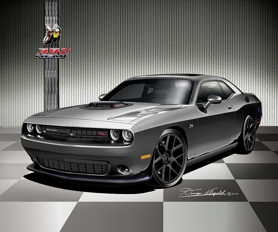 Wonderful 2008   2017 Dodge Challenger Hell Cat SRT8 392  Scat Pack Art Prints By  Danny Whitfield