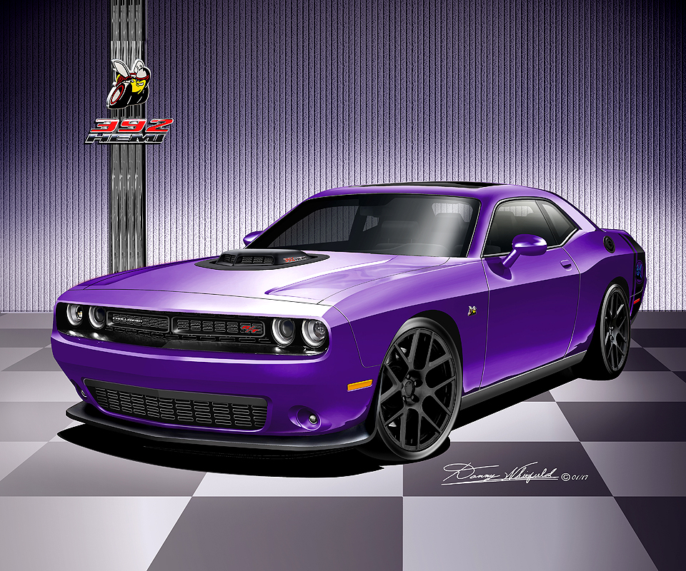 2008 2017 dodge challenger hell cat srt8 392 scat pack art prints. Cars Review. Best American Auto & Cars Review