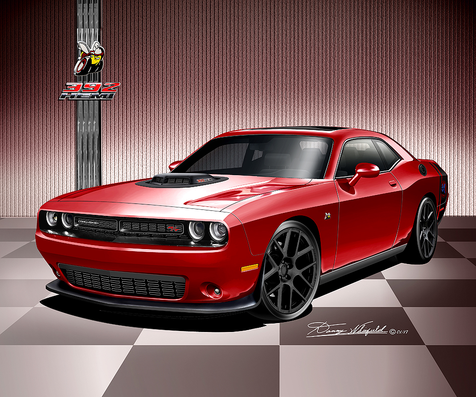 2016 - 2017 Dodge Challenger Fine Art Print & Posters by ...