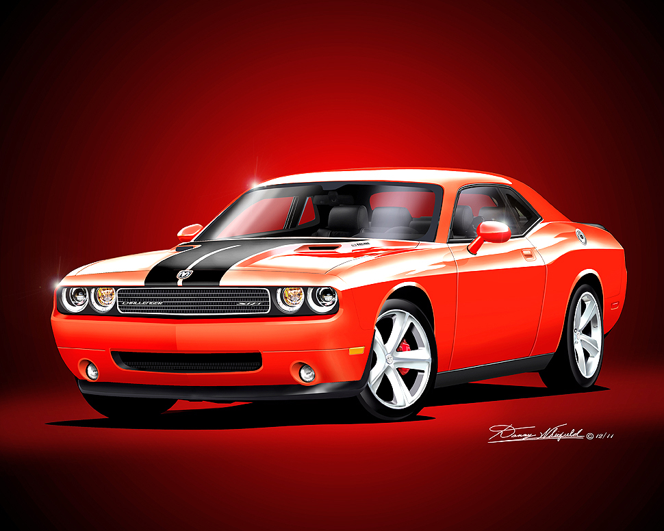 Awesome 2008   2017 Dodge Challenger Hell Cat SRT8 392  Scat Pack Art Prints By  Danny Whitfield