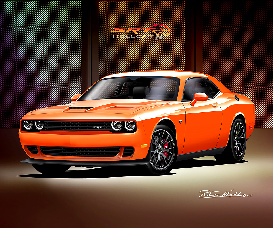 Challenger Hellcat 2015 Orange
