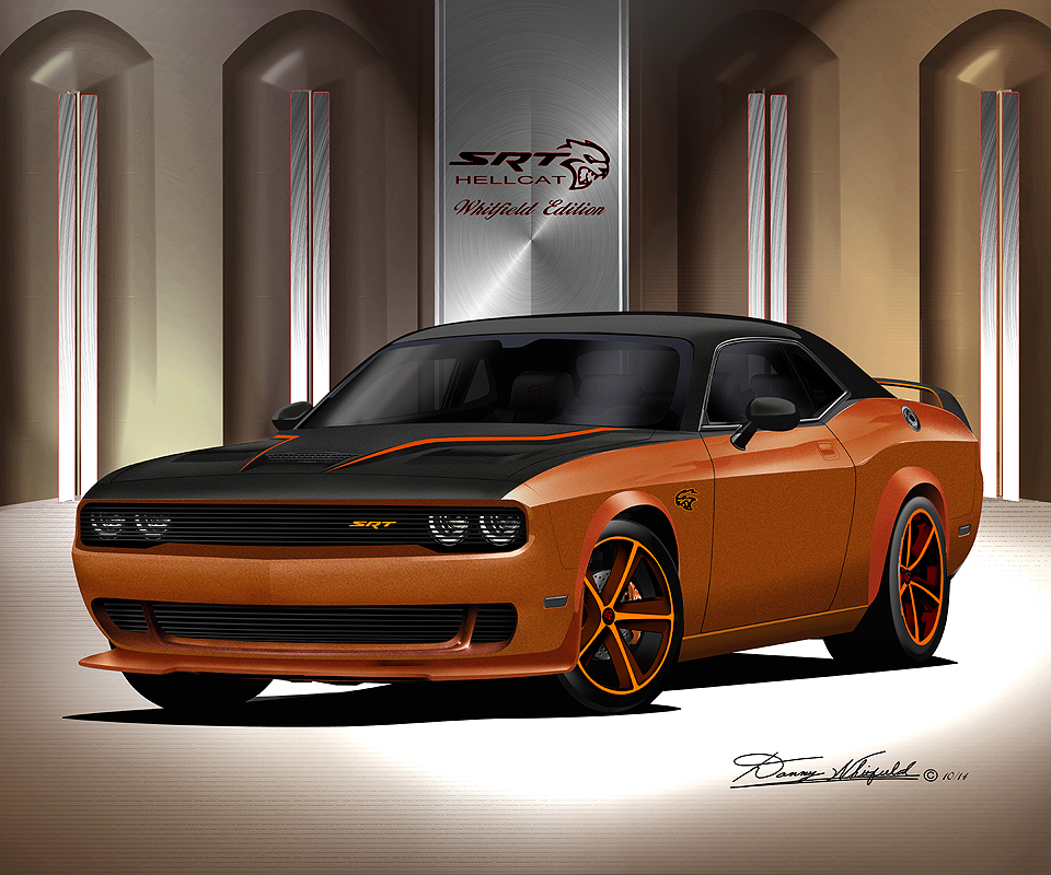 ITEM D HC 8 DODGE CHALLENGER HELL CAT WHITFIELD EDITION FIRE CRAKER ORANGE
