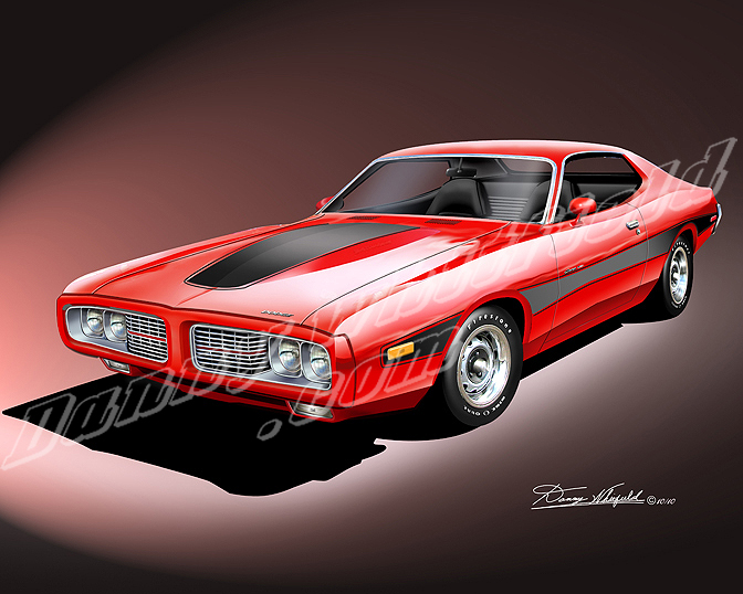 1966-1973 Dodge Charger - car art print by Danny Whitfield