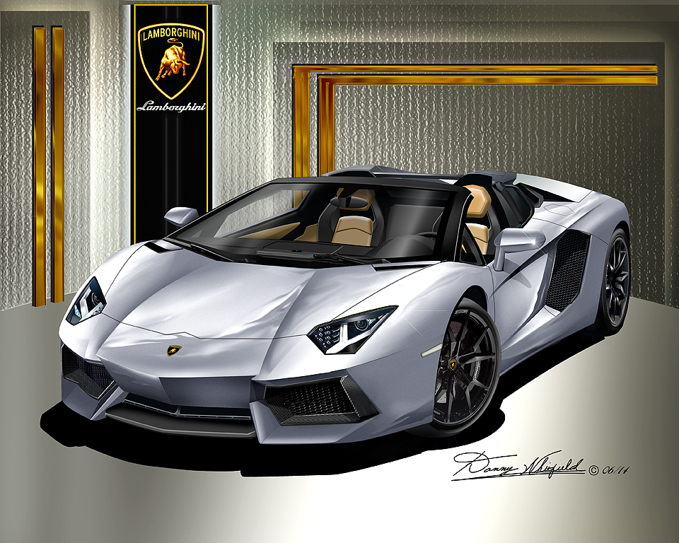 Lamborghini Sport Car Art Prints By Danny Whitfield