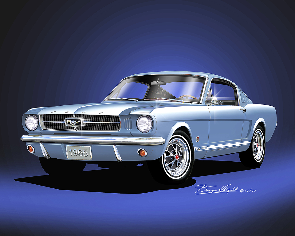 1965-1966 Mustang Fine art prints & posters by Danny ...  1965-1966 Musta...