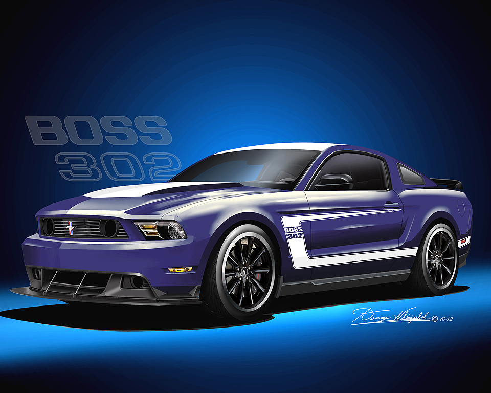 2011 2012 ford mustang fine art prints posters by danny whitfield. Black Bedroom Furniture Sets. Home Design Ideas